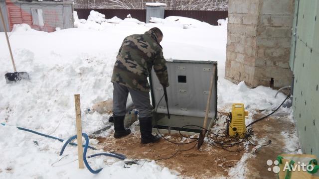 Проведение ремонта септика зимой