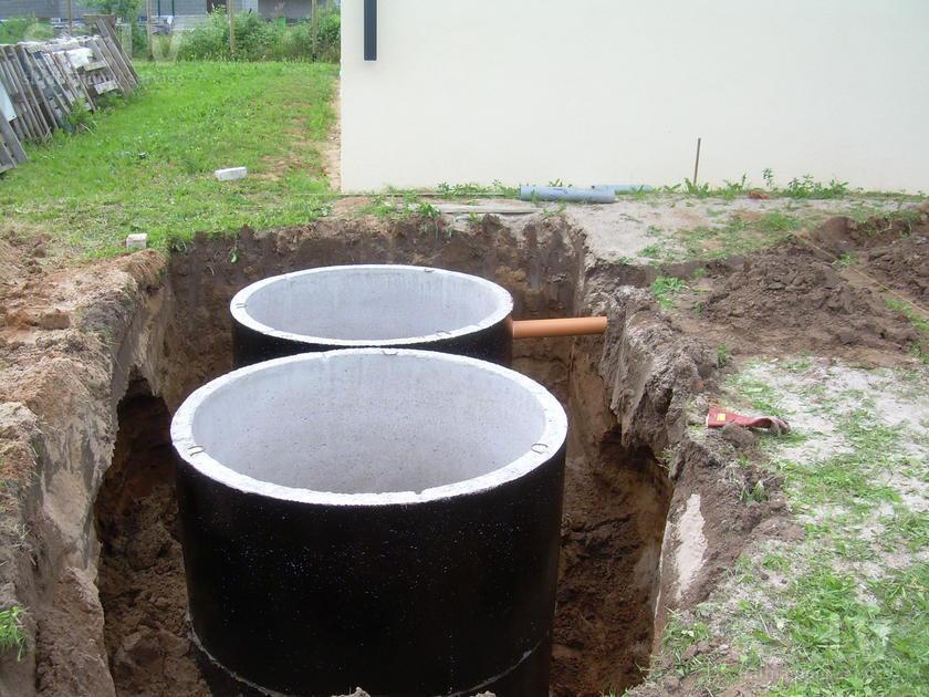 Пример септика из бетонных колец